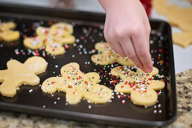 Kekse backen Weihnachtsgebaeck